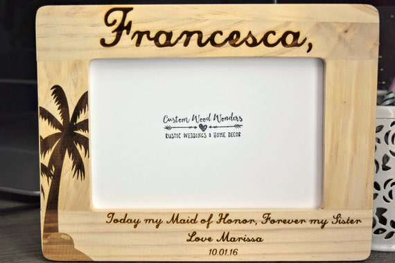 Personalized Maid of Honor Frame Maid of Honor Gifts   Etsy