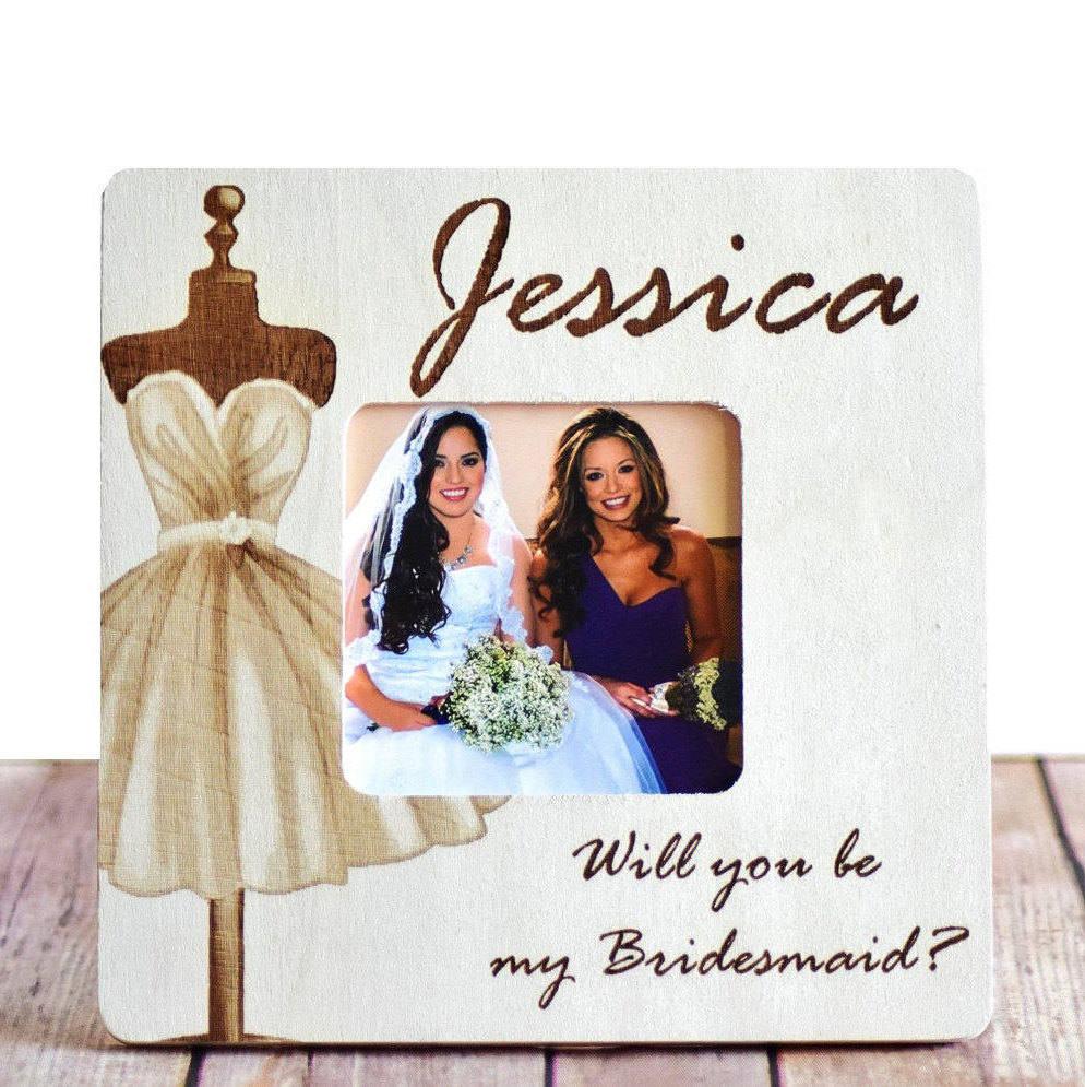 Custom Bridal Party Frame Bridesmaid Gift Wedding Keepsake | Etsy