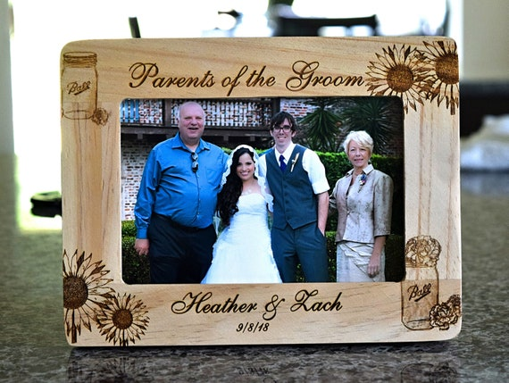 Rustic Wedding ~Gifts for Mother and Father ~Thank You Parents Gift ~Mother of the Bride~ Personalized Wedding Frame ~ Parents Are Neither