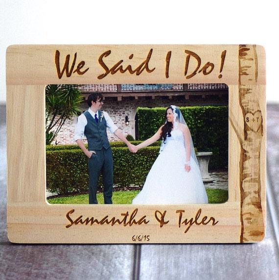 Wedding Frame Wood Burned Frame Rustic Wedding We Said I Etsy