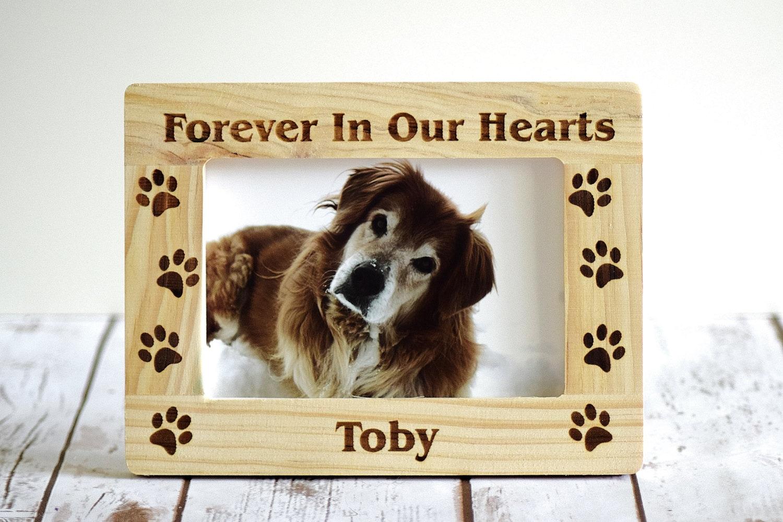PET-Memorial Rahmen für immer In unseren Herzen Paw Prints | Etsy
