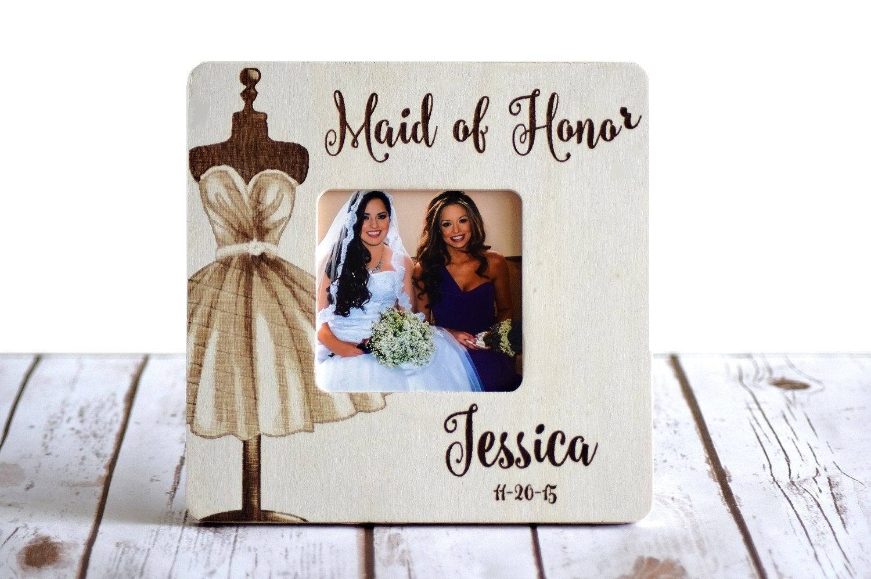 Personalisierte Maid Of Honor Rahmen Custom Hochzeit Rahmen | Etsy