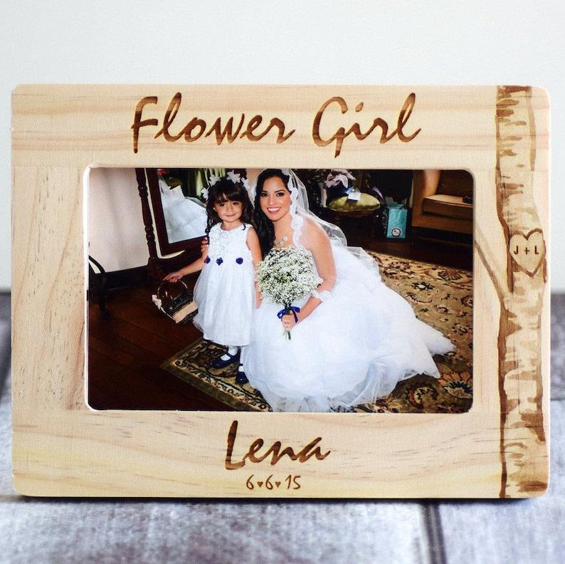 Flower Girl Gift Ring Bearer Frame be my flower Girl Will you be my Ring Bearer? Flower Girl Personalized Frame