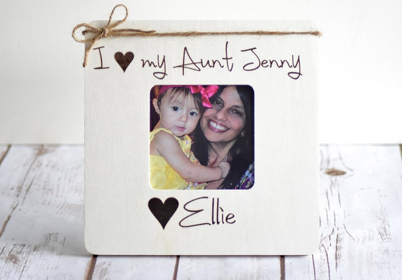 Christmas Gifts for Aunt Personalized Picture Frame image 0