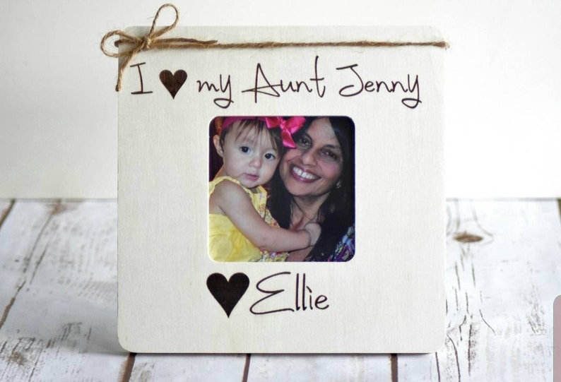 Personalized Picture Frame Aunt and Niece Christmas Gift from Niece Christmas Gifts for Aunt Uncle Gift Gifts from Niece Aunt Gifts