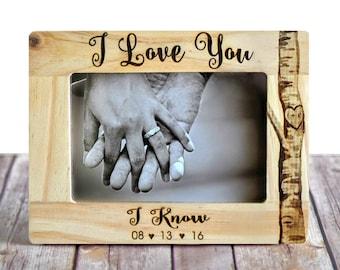 "Star Wars ""I Love You/I Know"" Picture Frame - Wedding Frame - Valentine's Day - star wars wedding - Unique wedding gift - Engagement gift"