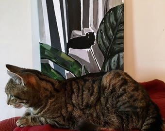 Cat in Windowsill - Original Painting