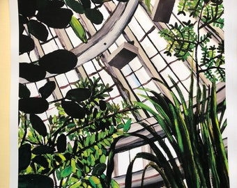 Copenhagen Botanical Garden A3 print