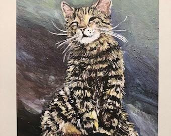 Oskar the blind cat - A4 print