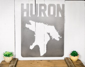 Lake Huron (Steel Lake Map) Michigan
