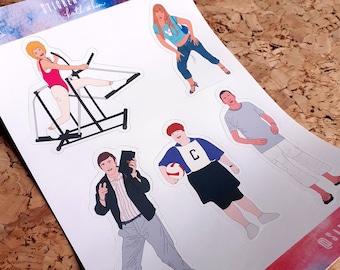 Kath & Kim Sticker Sheet Set, Junk journal, Bullet journal, bujo, Planner stickers