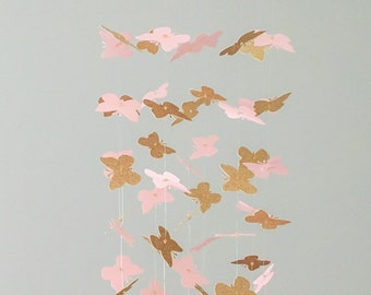 The Arabella Mobile // Pink and Gold Butterflies