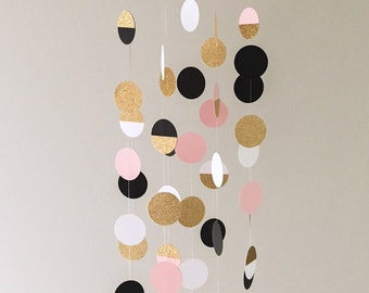 The Zoe Mobile // Black, Pink and Gold Shimmering Dots