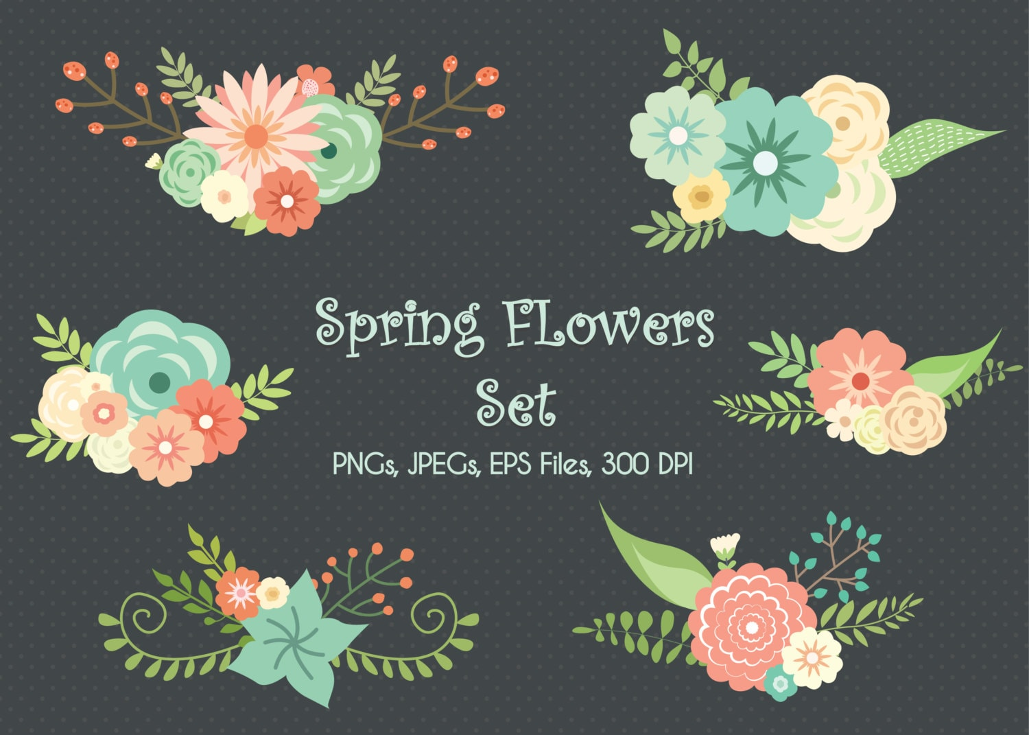 Limited Time Wedding Floral Clipart Flower Clipart Etsy