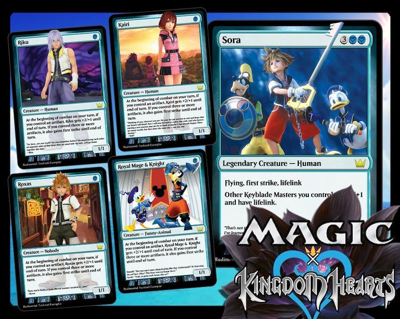 Kingdom Hearts Door To Light Deck Magic Trading Cards Etsy