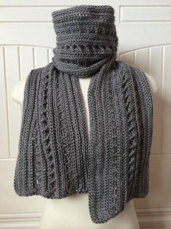 Crochet Scarf Pattern Backwoods Boyfriend Scarf 2 In 1 Etsy