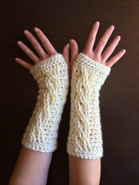 Crochet Fingerless Glove Pattern Fireside Fingerless Gloves Etsy