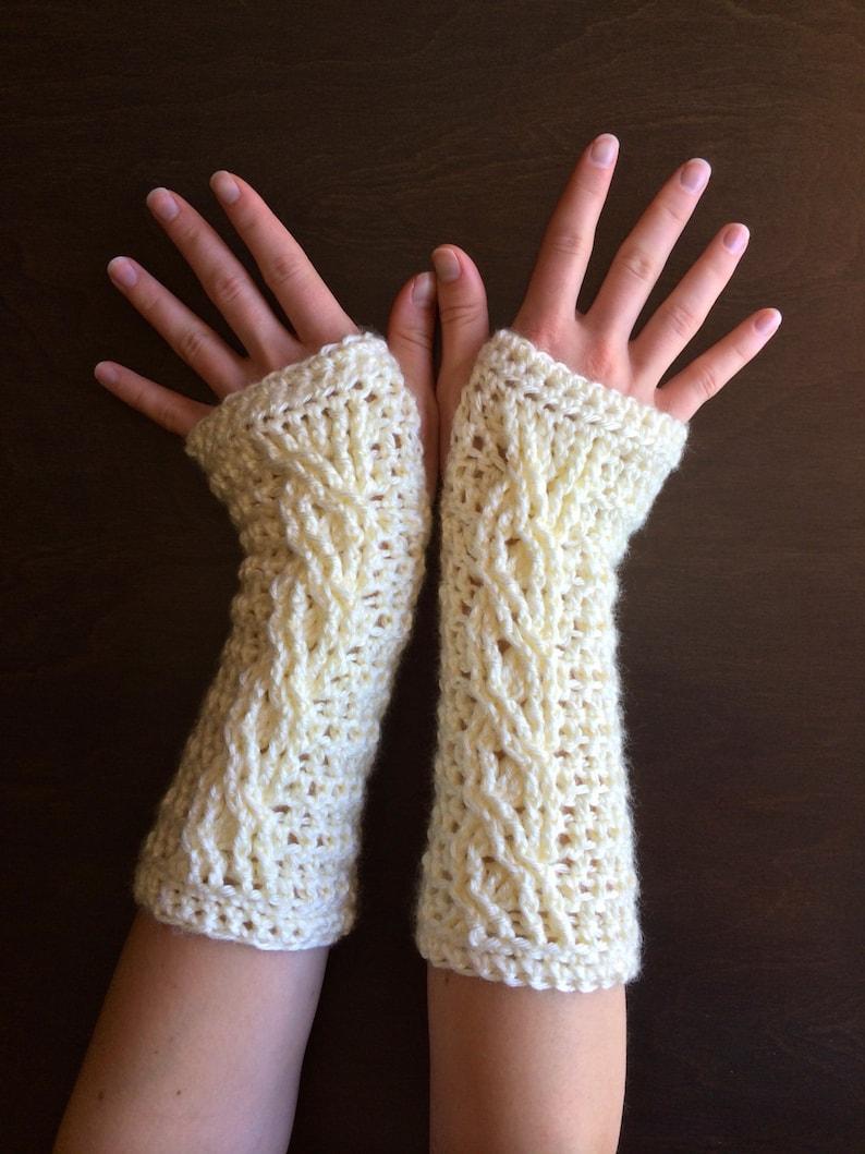 Crochet Fingerless Glove Pattern Fireside Fingerless Gloves Etsy