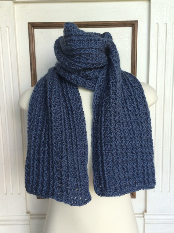 Crochet Scarf Pattern The Maritimes Mens Scarf 2 In 1 Etsy
