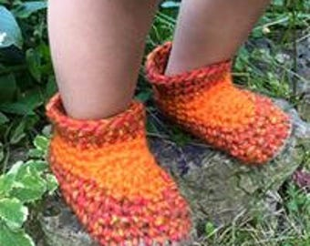 Toddler Woolly boots, available in a huge variety of colours and shades, natural and up-cycled fibers