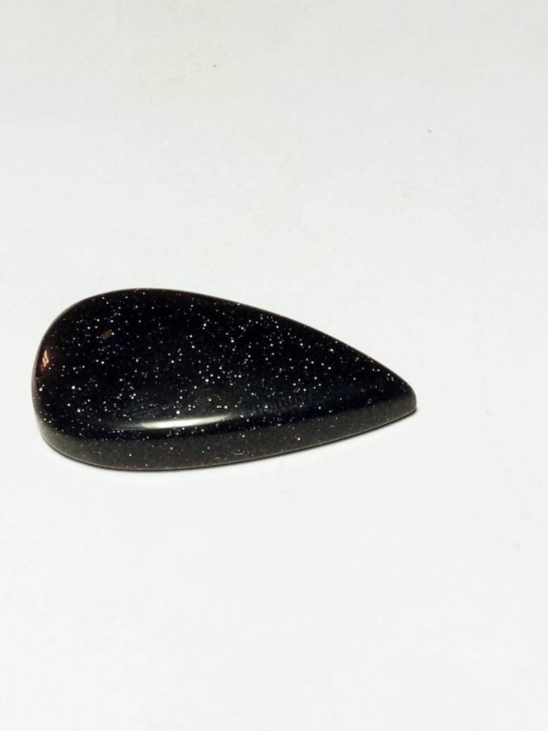 Blue Goldstone Cabochon Loose Gemstones Excellent Hand Making Shape Pear Weight 32 ct Size 33x11mm #A-250