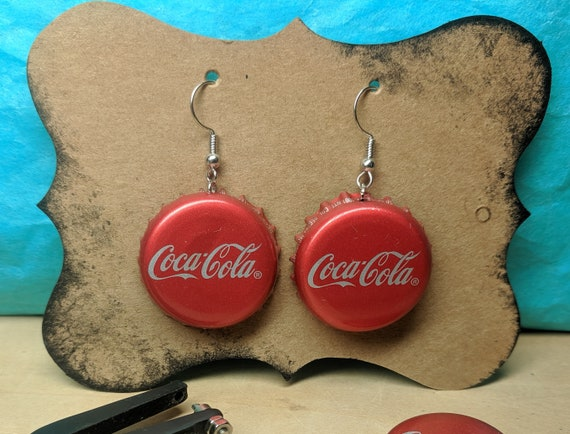 Coca Cola Bottle Cap Earrings  D6