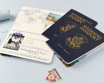 Realistic And Authentic Looking USA Passport Invitation