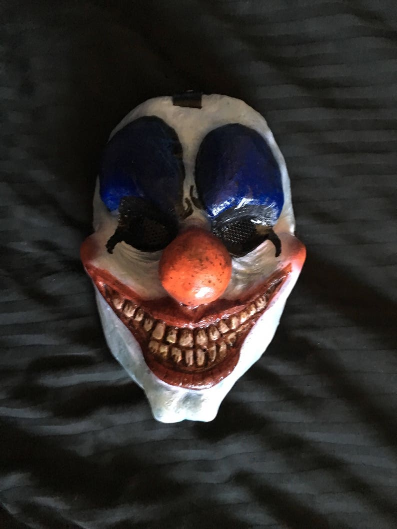 Creepy Clown UV and Glow in the Dark resin mask