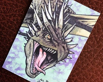 Hungarian Horntail Harry Potter Sketch Card