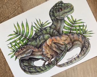 T. rex / Tyrannosaurus rex Hatchlings Print