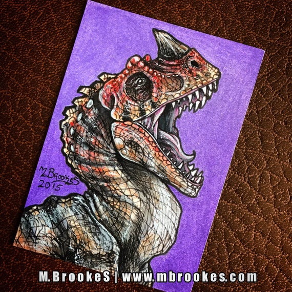 Ceratosaurus Sketch Card Jurassic Park 3