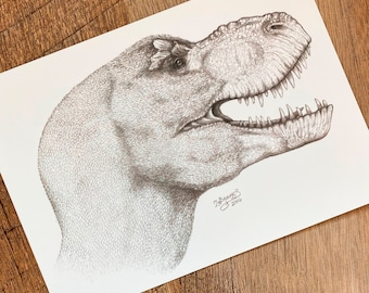 T. rex / Tyrannosaurus rex Reconstruction Print