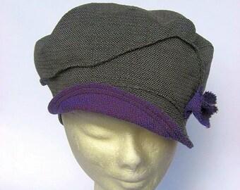 women newsboy cap, gatsb hat grey, women visior cap, boho chic ladies hat, bakerboy hat, ladies newsboy beret