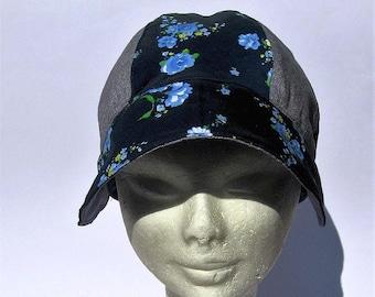 women newsboy beret  ladies summmer cap denim floral  print, cotton  hat, spring summer mood cap