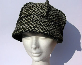 7b92d9f6 Gatsby hat wool winter hat women, warm and slouchy, one of a kind, medium