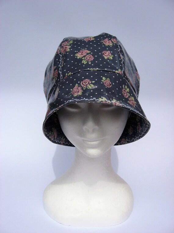 Women rain cloche hat cloche 30s style rain hat waterproof  aa0e4b273e7