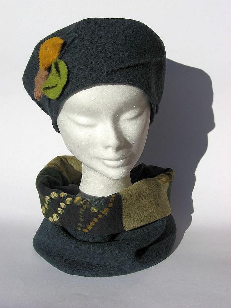 Set inverno berretto sciarpa lana cotta petrol completo  177dac83f459