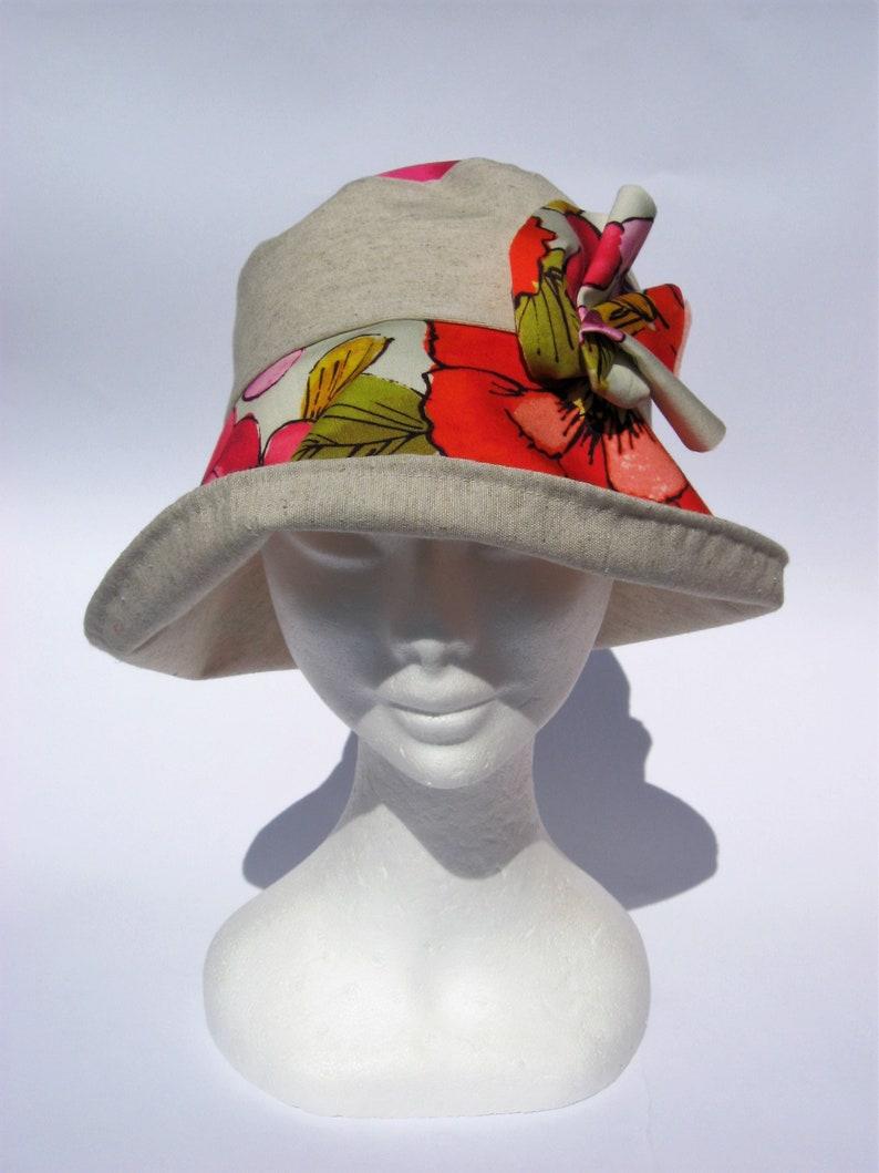 cloche summer city hat small medium size womens floral sun hat feminin summer floppy hat