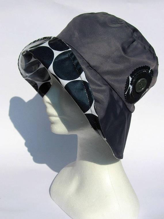 0c3106e8399 Ladies rain hat grey elegant bucket rain hat waterproof