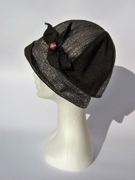 081b3573120 womens winter cloche hat ladies cloche flapper hat fabric