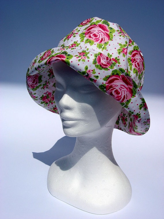 7bc09941a7f womens rain hat floral design hat Fairytale hat bucket