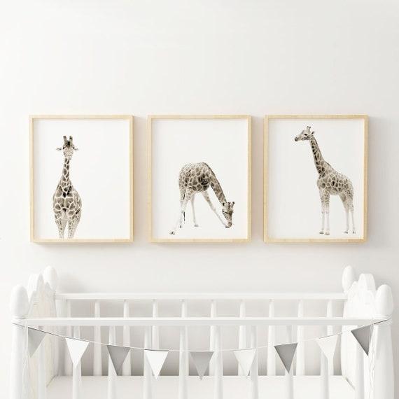 Giraffe Print Large Nursery Wall Art Animal Nursery Decor | Etsy