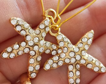Starfish Earings, gold plated