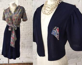40s Vintage 2 Piece Dress