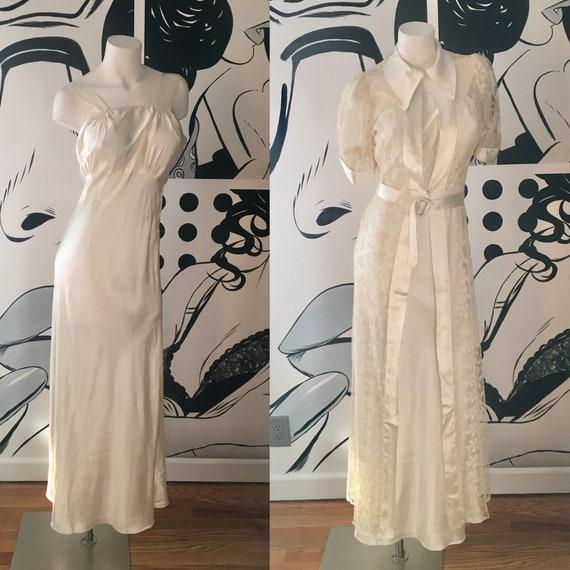 1930s Vintage 2 Piece Wedding Dress