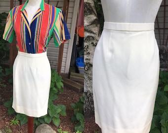 Henri Bendel Ivory Vintage Skirt