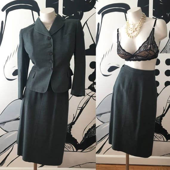 1940s Vintage 2 Piece Skirt Suit