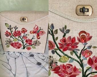 Vintage Summer Linen Purse