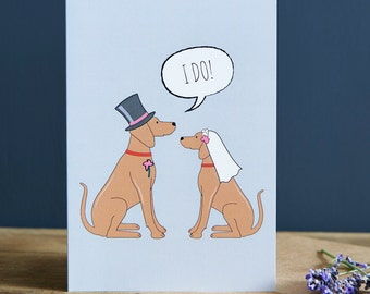 Vizsla wedding or engagement  card