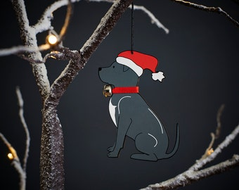Staffie Christmas tree decoration